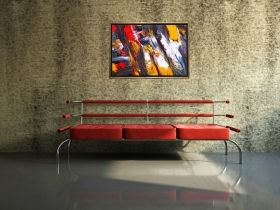 Luxury Framed Wall Art The color of life VI, Glowing in the dark, 50 x 70 cm