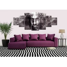 Canvas Wall Art Man portrait, Glowing in the dark, Set of 7, 100 x 240 cm (1 panel 40 x 100 cm, 2 panels 35 x 90 cm, 2 panels 30 x 60 cm, 2 panels 30 x 40 cm)