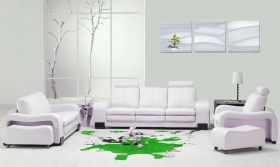 Canvas Wall Art Snow, Glowing in the dark, Set of 3, 60 x 180 cm (3 panels 60 x 60 cm)