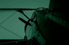Glass Wall Art Fighting plane, Glowing in the dark, 60 x 90 cm