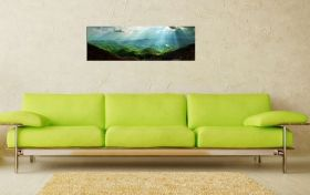 Glass Wall Art Carpathians, Glowing in the dark, 40 x 120 cm