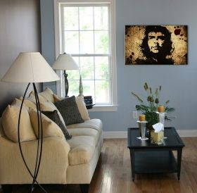 Glass Wall Art Che Guevara, Glowing in the dark, 60 x 90 cm