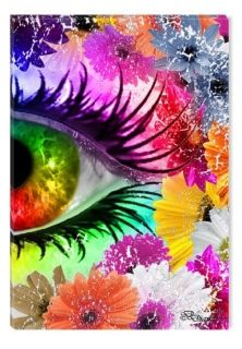 Glass Wall Art The colors of the Eye II by Diana, Glowing in the dark, 60 x 90 cm