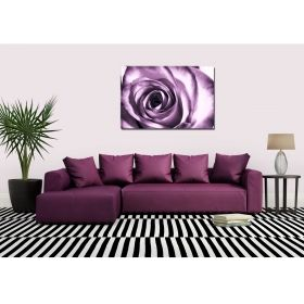 Canvas Wall Art Purple Rose, Glowing in the dark, 80 x 120 cm