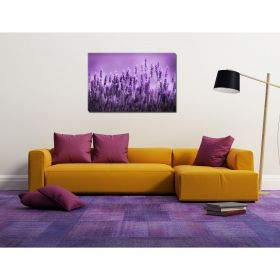 Canvas Wall Art Lavender, Glowing in the dark, 80 x 120 cm