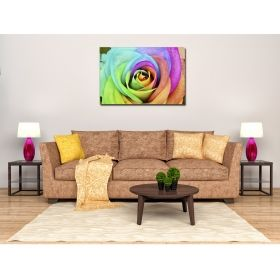 Canvas Wall Art Multicolored roses, Glowing in the dark, 80 x 120 cm