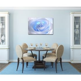 Canvas Wall Art White Rose, Glowing in the dark, 80 x 120 cm