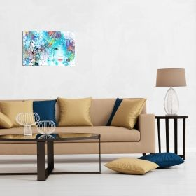 Canvas Wall Art Abstract Duplicity, Nature, multi color, blue, set, for bedroom, living room, kitchen room, modern, decor, prints, painting