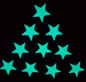 Stickere decorative. Set Magic 10 Stelute M Startonight, luminoase in intuneric