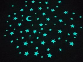 Stickere decorative, Set Univers 75 piese Startonight, luminoase in intuneric