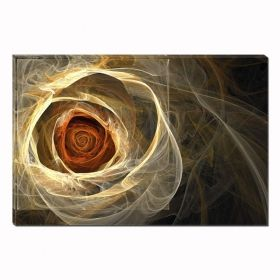 Canvas Wall Art Abstract Rose of Light, for bedroom, living room, yellor, red