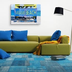 Oferta 1+1 Tablou Fereastra spre Paradisul Acvatic 80x120 cm + Tablou Miami Beach 60x90 cm, tehnologie Eco Light